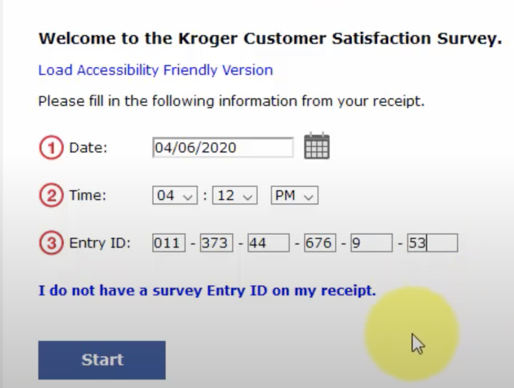 Type-the-kroger-entry-ID-in-required-fields